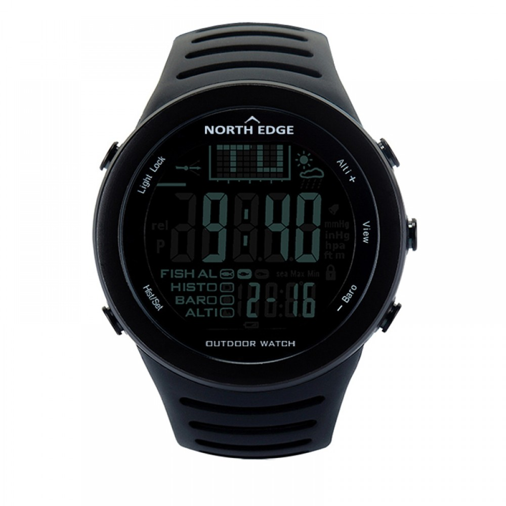 thermometer forecast watches digital in rate altimeter sports altitude watch barometer wristwatch climbing running heart monitor item men pedometer weather compass from